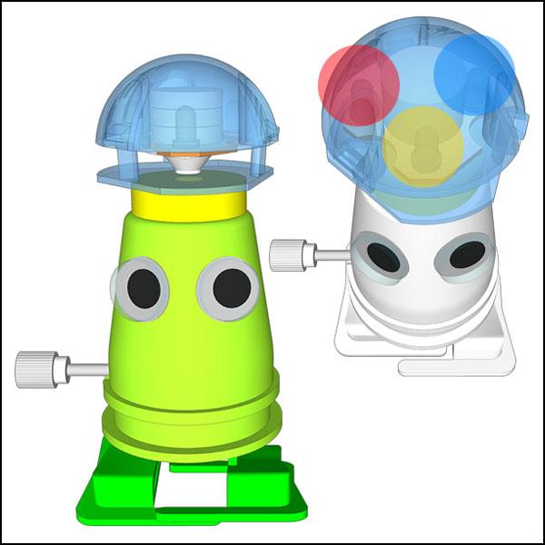뉴 LED 태엽 로봇 만들기