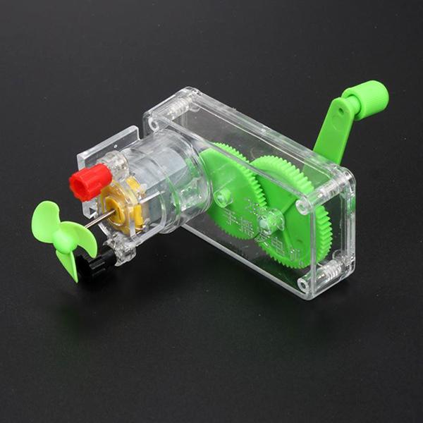 [척척박사네3750] 소형 핸드 자가 손 발전기(발전기 세트/꼬마전구 실험 종합 세트)