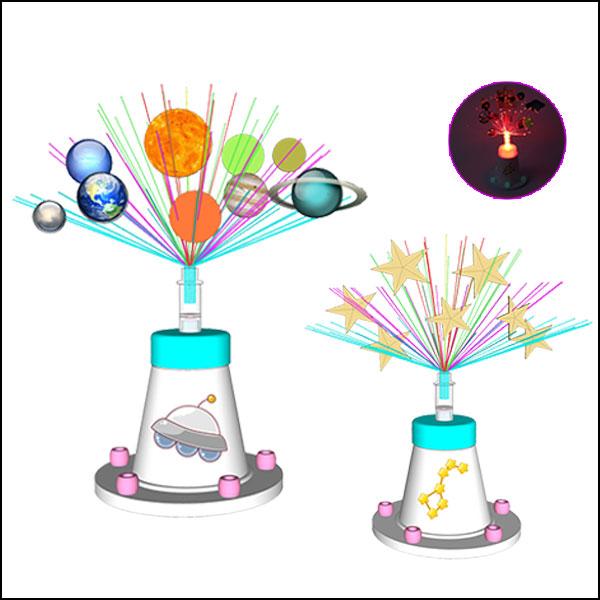 [척척박사네1371] LED광섬유 태양계행성&별자리조명등(1인용/10인용)