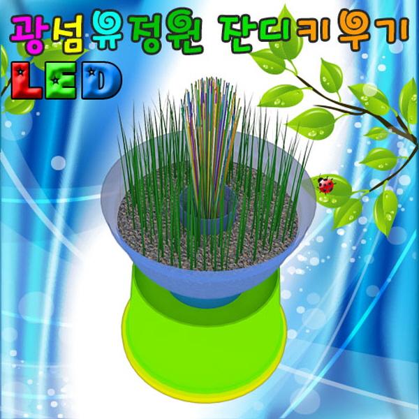 [척척박사네2163] LED 광섬유정원 잔디꾸미기(1인용/5인용)