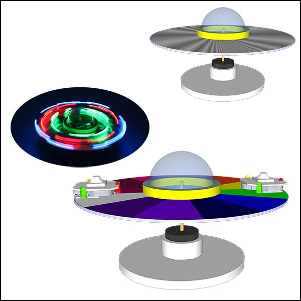 [척척박사네1891] LED 자기부상 회전UFO(LED형)-5인용