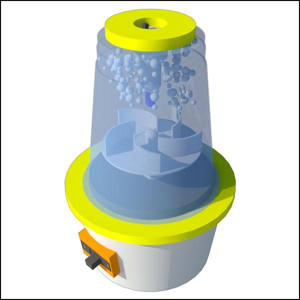 [척척박사네2262] LED 토네이도 발생 실험기(5인용)
