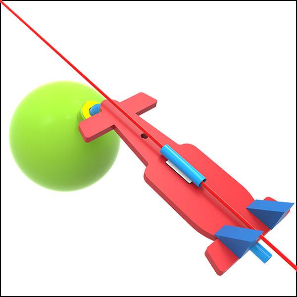[척척박사네1360] 줄타는 풍선우주선(1인용/10인용)
