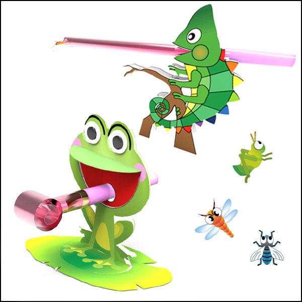 [척척박사네1873] 카멜레온과 개구리의 먹이사냥(개구리)-5인용