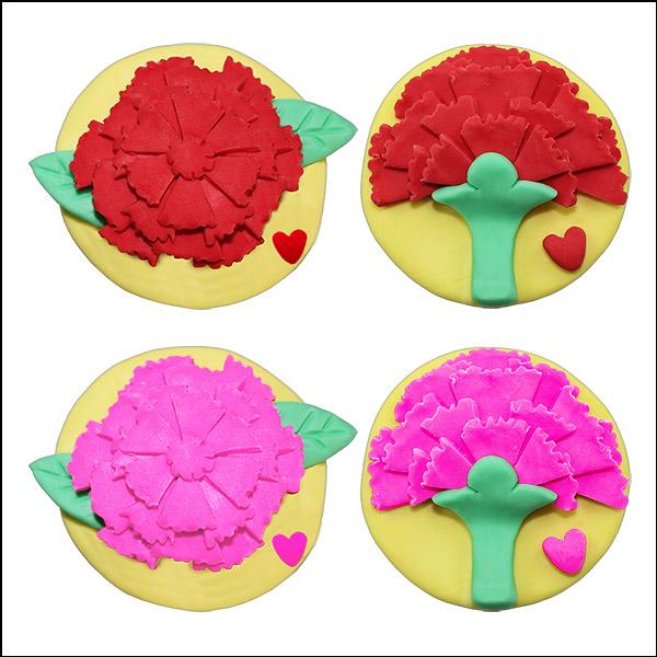 [척척박사네1518] 오물조물비누 카네이션(6인용)-빨강색꽃/분홍색꽃