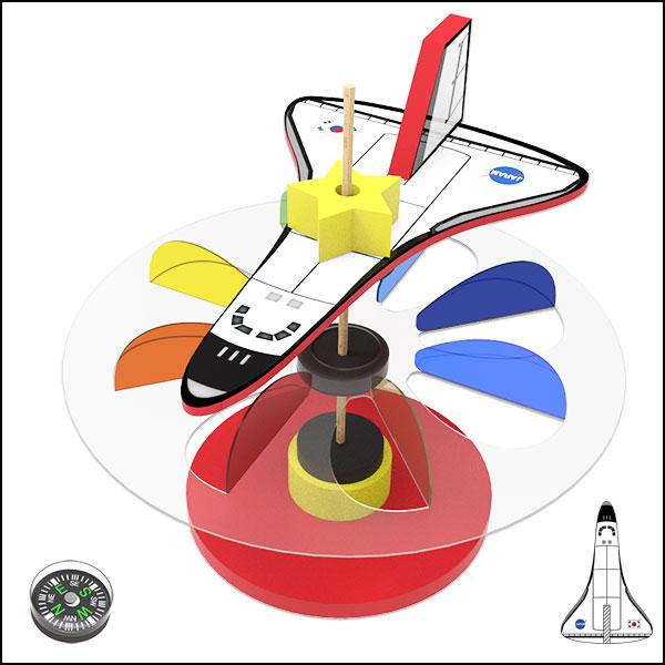 [척척박사네1319] 자기부상 우주왕복선 풍향풍속계(1인용/5인용)
